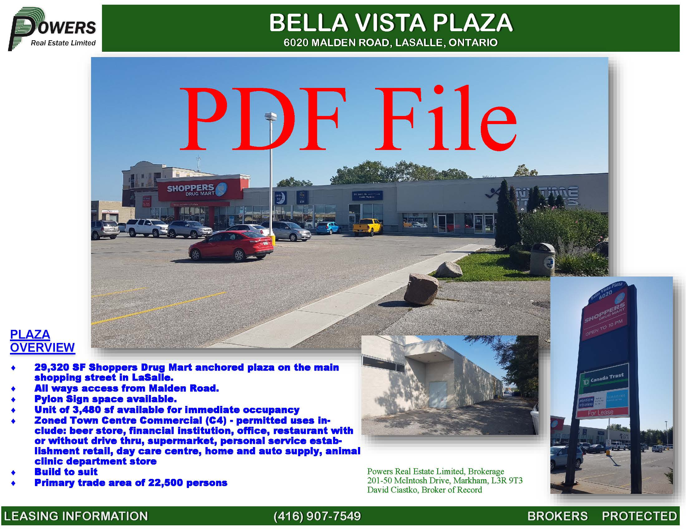 Pages from Bella Vista Plaza Marketing Brochure